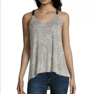 Eyeshadow V Neck Sleeveless Tank Top Juniors Small